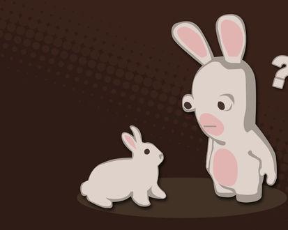 Обои Кролик rayman и обычный кролик