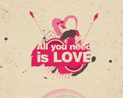 Обои All you need is love