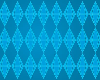 Обои Sims 3 : голубые ромбики