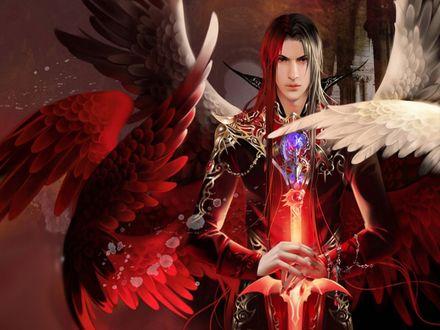 Обои Ангел, вставший на сторону зла