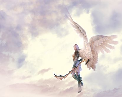 Обои Ангел в небесах