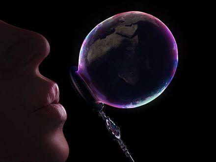 Обои Мыльный пузырек