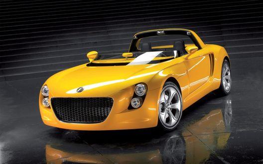 Обои Желтый кабриолет