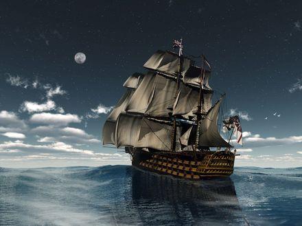 Обои Корабль