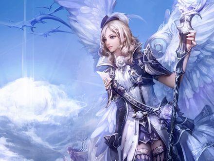 Обои Прекрасный ангел в небесах