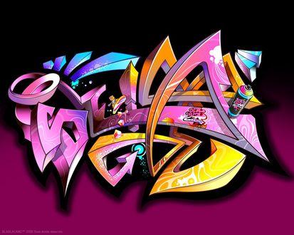 Обои Непонятная надпись в стиле графити (Bla bla land)