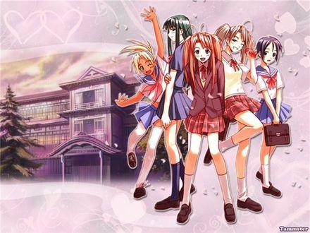Обои Героини аниме Love Hina