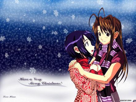 Обои Love Hina - Have a very Merry Christmas