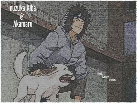 Обои Inuzuka Kiba & Akamaru Friends Partners Brothers