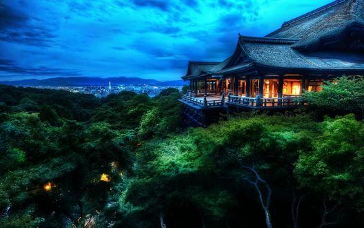 Обои Японский домик на острове Киото