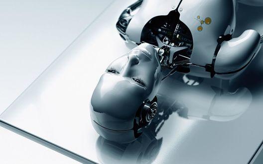 Обои Девушка робот