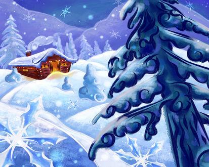 Обои Зимняя сказка