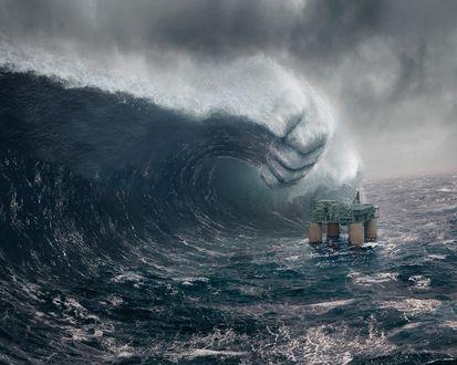 Обои Огромная волна