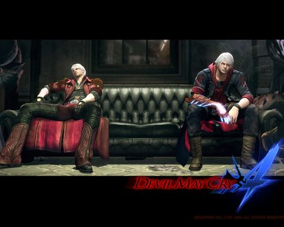 Обои Devil May Cry IV: Dante & Nero