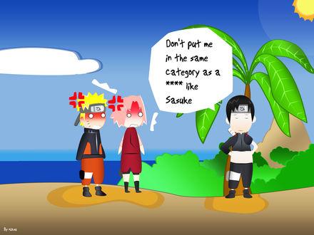 Обои Don't put me in the same category as a **** like Sasuke