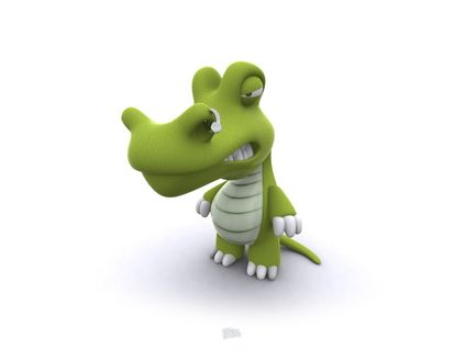 Обои Злой крокодил