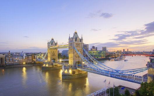 ���� England, London / ������, ������, ��� �� Tower bridge / ��������� ����