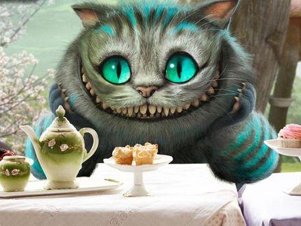 Обои Чеширский кот  из фильма «Алиса в Стране Чудес»