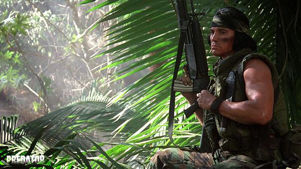 Обои Билли (Sonny Landham) из фильма «Хищник» (Predator)