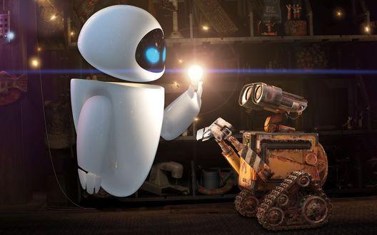 Обои Wall-e (Wall-e and Eve)