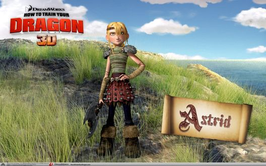 ���� ������ �� �������� ���� ��������� ������� (Astrid, How to train your dragon 3D)