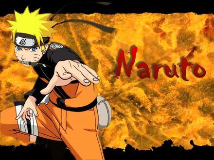 Обои Наруто с кунаем в зубах (Naruto)