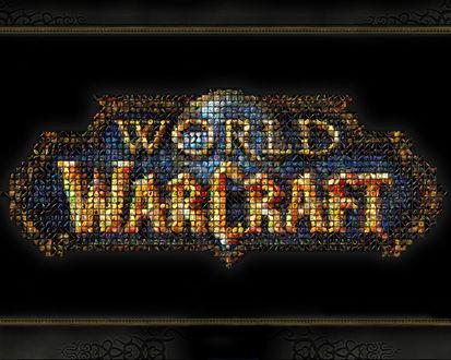 Обои Название игры составлено из ярлыков заклинаний (World of WorCraft)