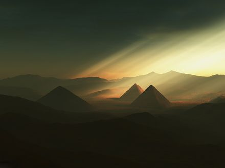 Обои Пирамиды в пустыне