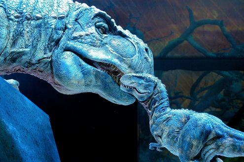 Обои Динозавр с детёнышем