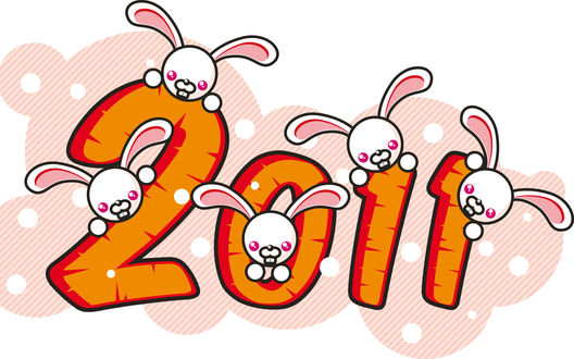 Обои Новый год 2011 из моркови