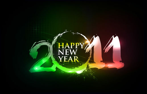 Обои 2011 Happy Hew Year
