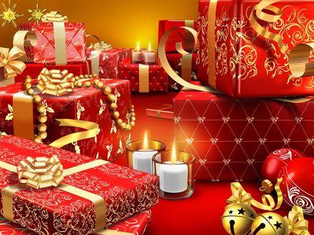 Обои Красивые подарки на Новый Год