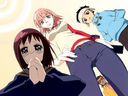 Обои Аниме Фури Кури (Девушка плачет)