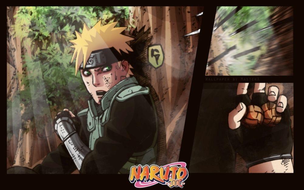Обои для рабочего стола Наруто в лесу (Naruto)