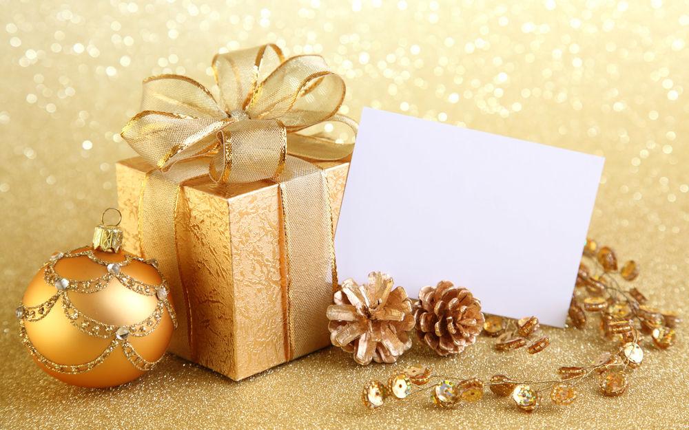 Гифы картинка, золотая открытка с новым годом