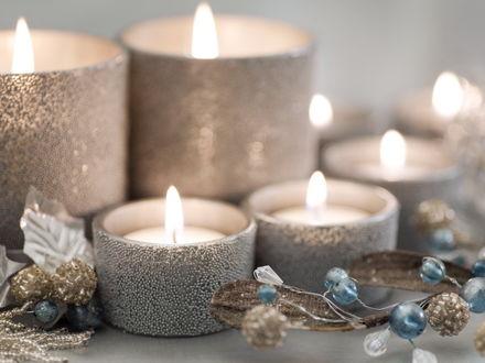 Обои Новогодние свечи