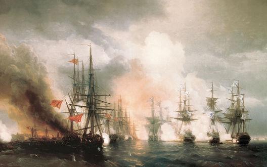 Обои Черноморский царский флот середины 19-го века