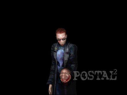 Обои Postal 2 человек с отрезанной головой в руках