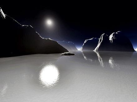 Обои белое море (альтернативный мир)