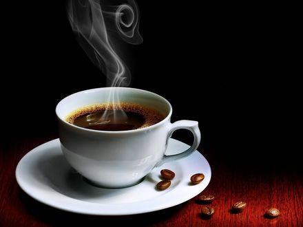 Обои Чашка горячего кофе