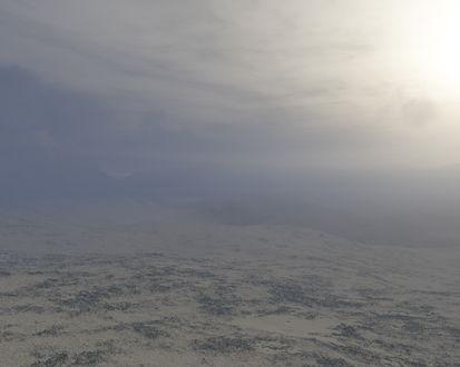 Обои туман