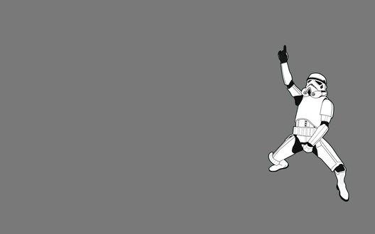 Обои Танцующий солдат из звездных войн
