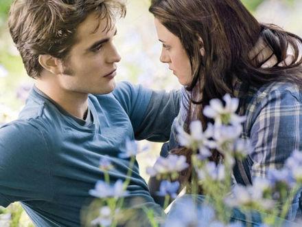 Обои Twilight влюбленные среди цветов