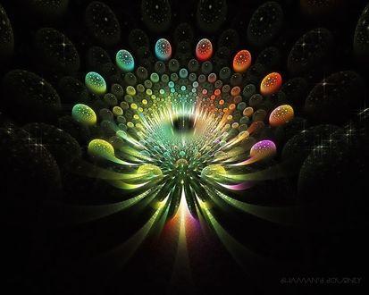 Обои Волшебная циклическая абстракция