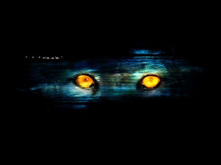 Обои глазаволка которые растворяються в черном фоне F.E.A.R.