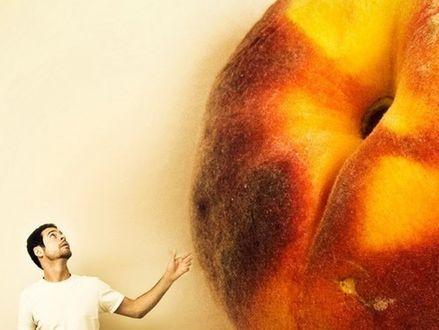 Обои Aaron Nace и огромный персик