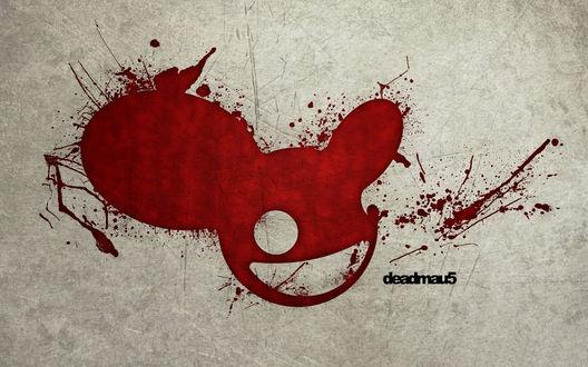 Обои Логотип диджея deadmau5 нарисован кровью