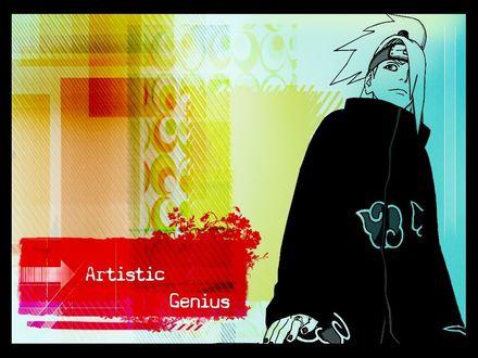 Обои Дейдара, аниме Наруто (Artistic genius)