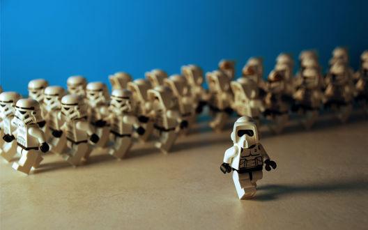 Обои Лего солдаты звездных войн