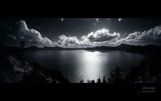 Обои Crater lake west (Gallery of art Gallery.artofgragmartin.com)